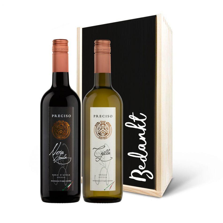 Wijnpakket Preciso rood/wit, 2 fles - BIO/VEGAN
