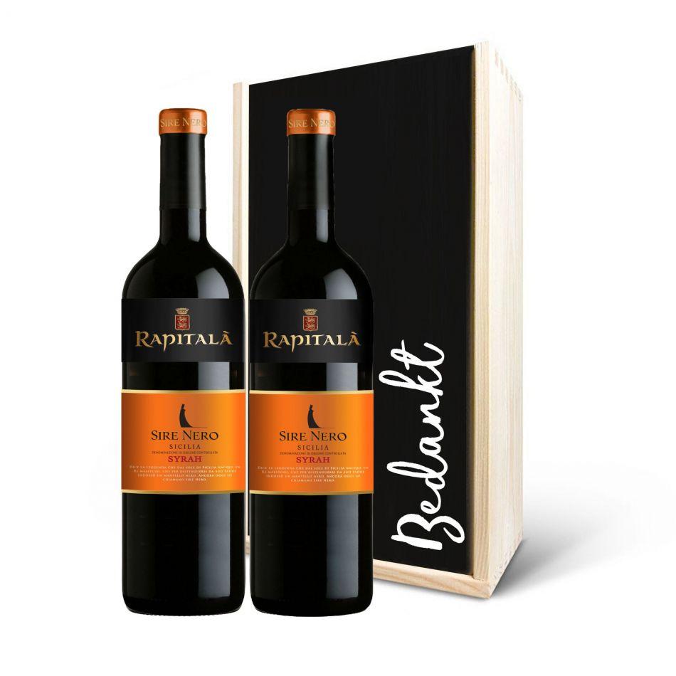 Wijnpakket Rapitalà Sire Nero Syrah Sicilia DOC Rood, 2 fles